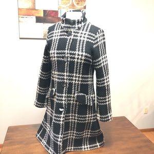 H&M Wool Nylon black and white Winter coat Size 10
